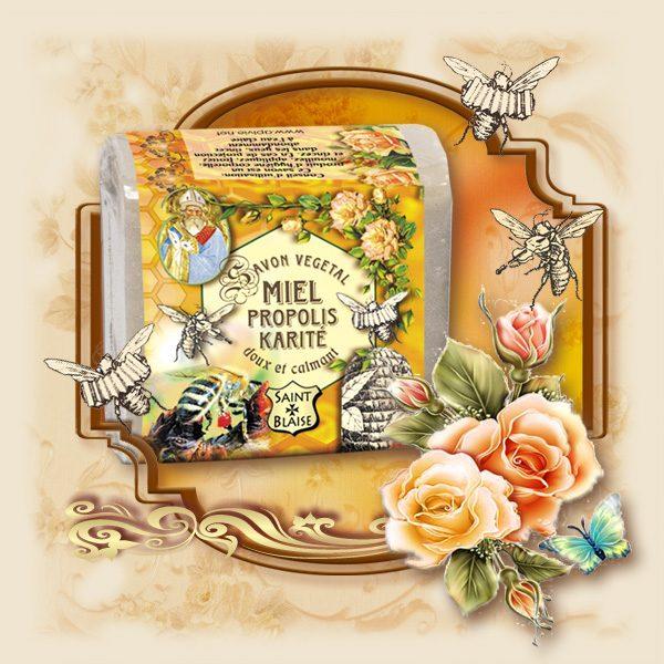 Savon végétal au Miel - Propolis & Karité